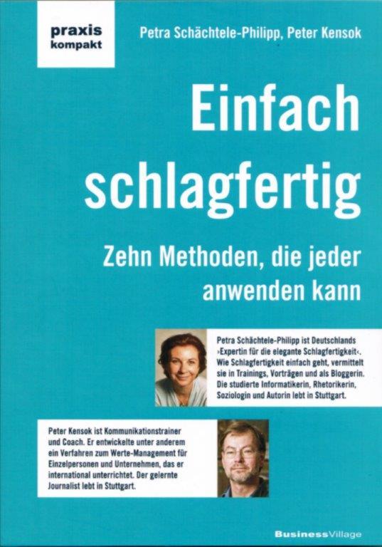 Petra Schächtele-Philipp und Peter Kensok - Einfach schlagfertig.